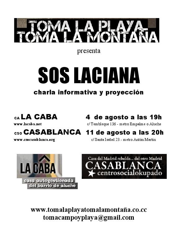 SOS LACIANA - Toma la montaña, presentación lacaba y casablanca
