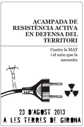 Comunicado de la acampada contra la MAT en apoyo de las luchas contra la megaminería del mundo
